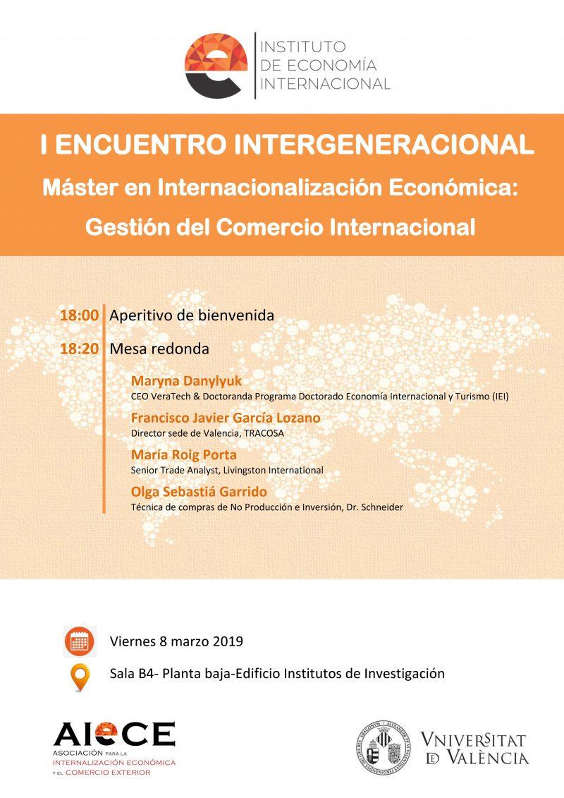 I Encuentro Intergeneracional – Viernes 8 Marzo 2019
